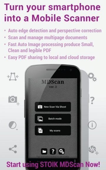 Mobile Doc Scanner (MDScan) на андроид